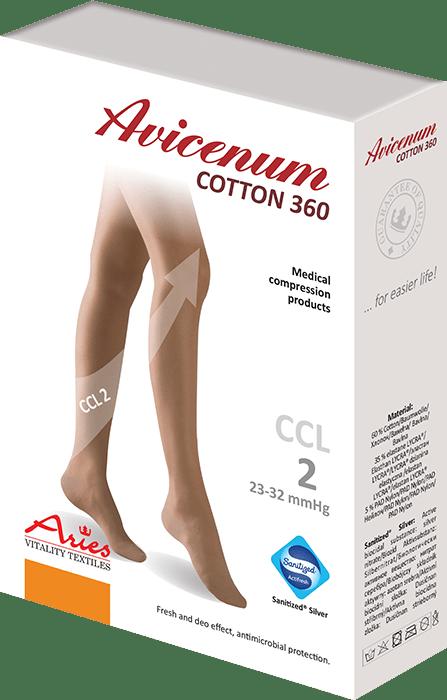 ARIES Pończochy przeciwżylakowe Avicenum 360 DEN COTTON