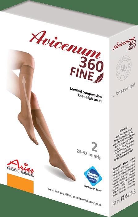 ARIES Podkolanówki przeciwżylakowe Avicenum 360 DEN FINE