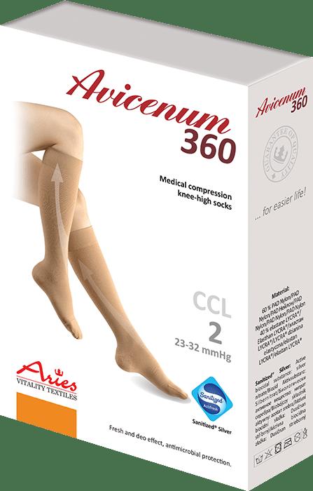 ARIES Podkolanówki przeciwżylakowe Avicenum 360 DEN