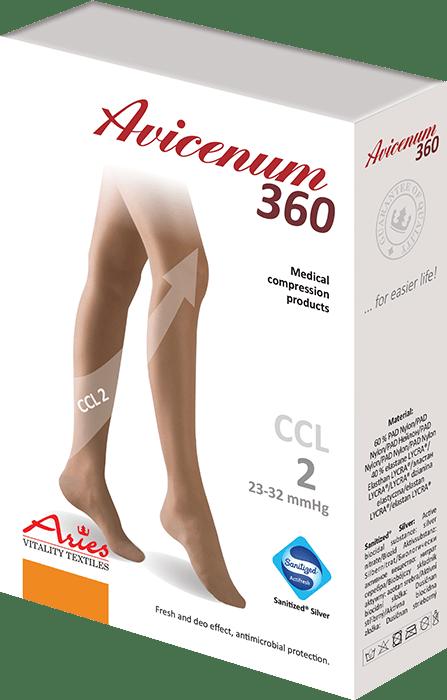 ARIES Rajstopy przeciwżylakowe uciskowe Avicenum 360 DEN