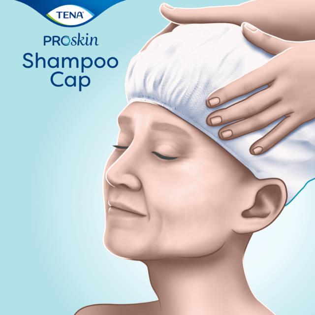 TENA Shampoo Cap – czepek do mycia włosów