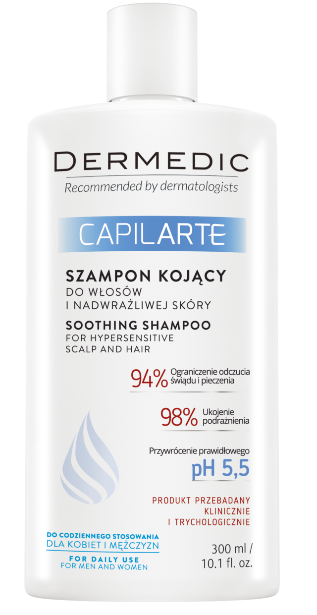 DERMEDIC CAPILARTE Szampon kojący do włosów i nadwrażliwej skóry głowy 300 ml