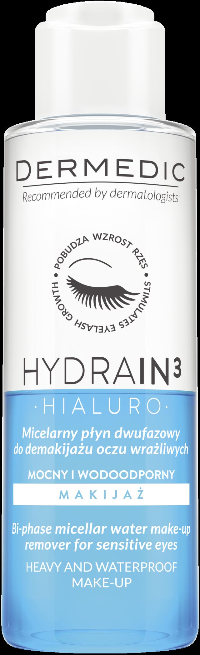 DERMEDIC HYDRAIN 3 HIALURO Micelarny płyn dwufazowy do demakijażu 115 ml