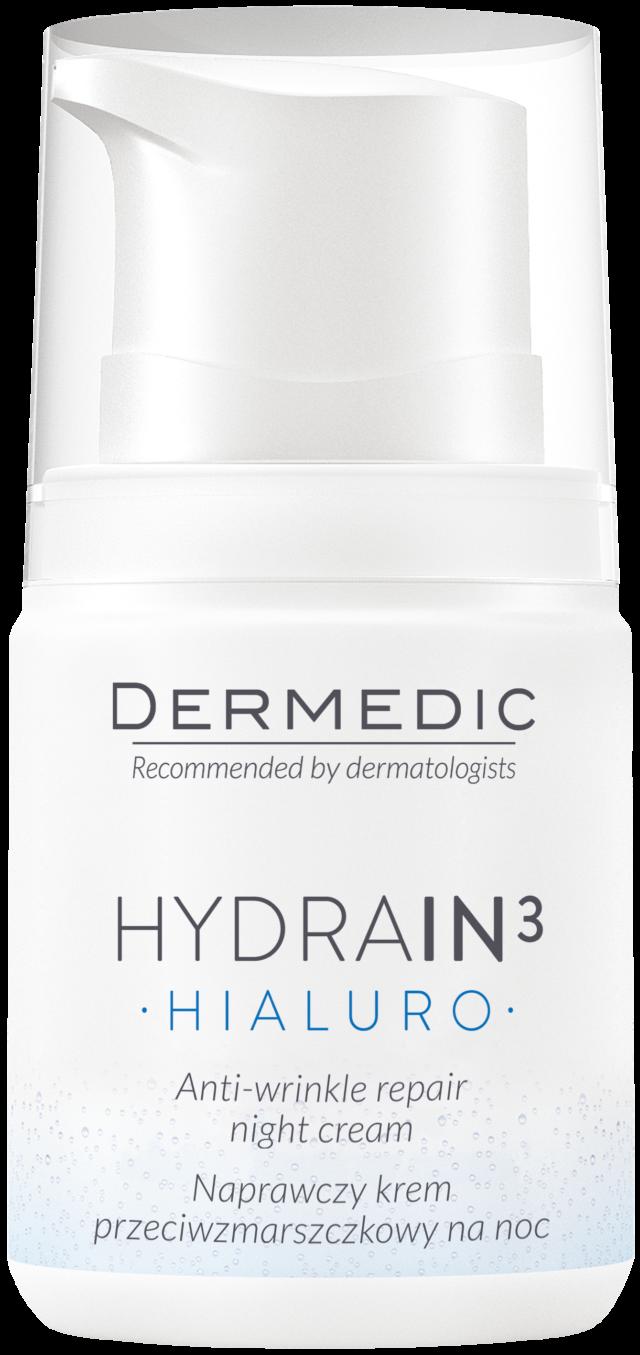 DERMEDIC HYDRAIN 3 HIALURO Naprawczy krem przeciwzmarszczkowy na noc 55 ml