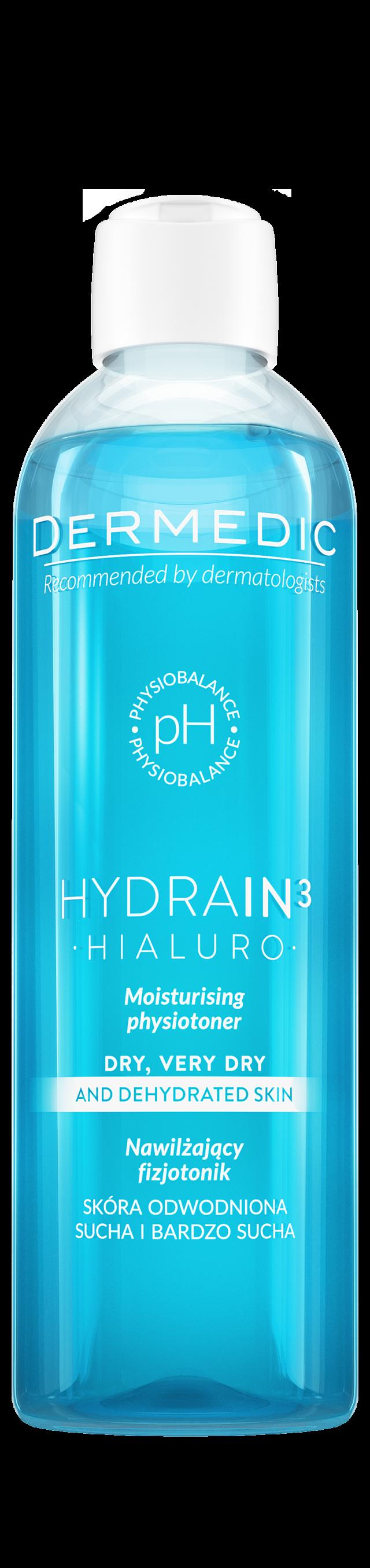 DERMEDIC HYDRAIN 3 HIALURO Nawilżający fizjotonik 200 ml