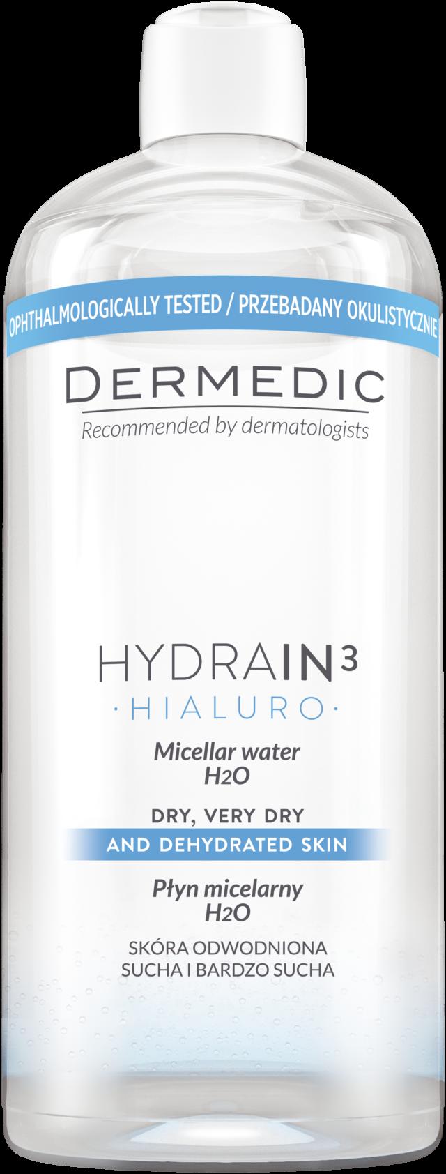 DERMEDIC HYDRAIN 3 HIALURO Płyn micelarny H2O