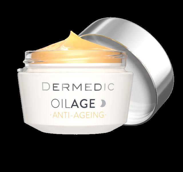 DERMEDIC OILAGE Naprawczy krem na noc przywracający gęstość skóry 50 ml