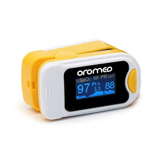 OROMED Pulsoksymetr napalcowy- żółty ORO-PULSE YELLOW