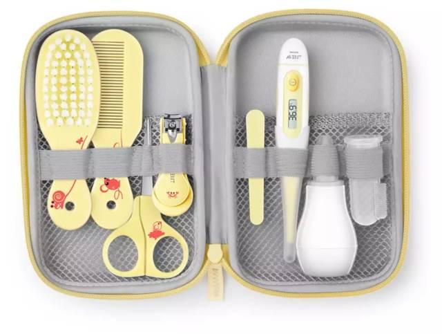 AVENT Zestaw pielęgnacyjny dla niemowląt – zestaw składający się z  10 przedmiotów do pielegnacji maluszka SCH400/30