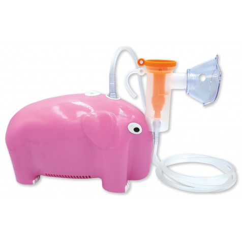 OROMED Inhalator pneumatyczny tłokowy w kształcie słonia- różowy ORO-BABY NEB PINK