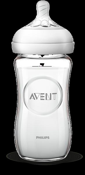 AVENT Butelka szklana z serii Natural 240 ml SCF053/17