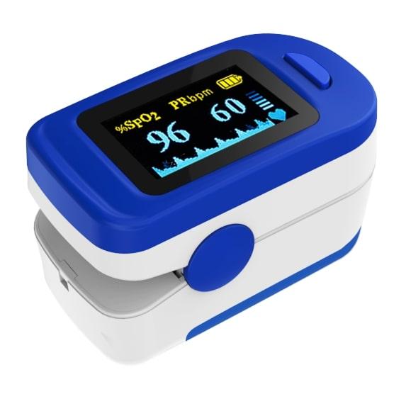 TECH-MED Pulsoksymetr napalcowy- niebieski TM-PX30
