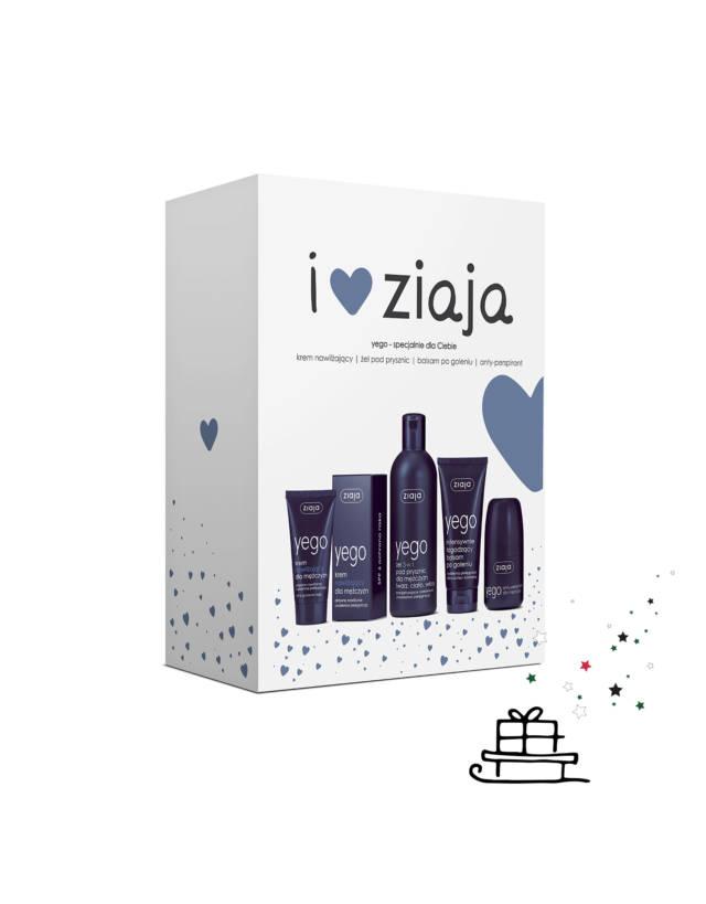ZIAJA ZESTAW YEGO – krem nawilżający, balsam po goleniu, antyperspirant i żel pod prysznic 3w1