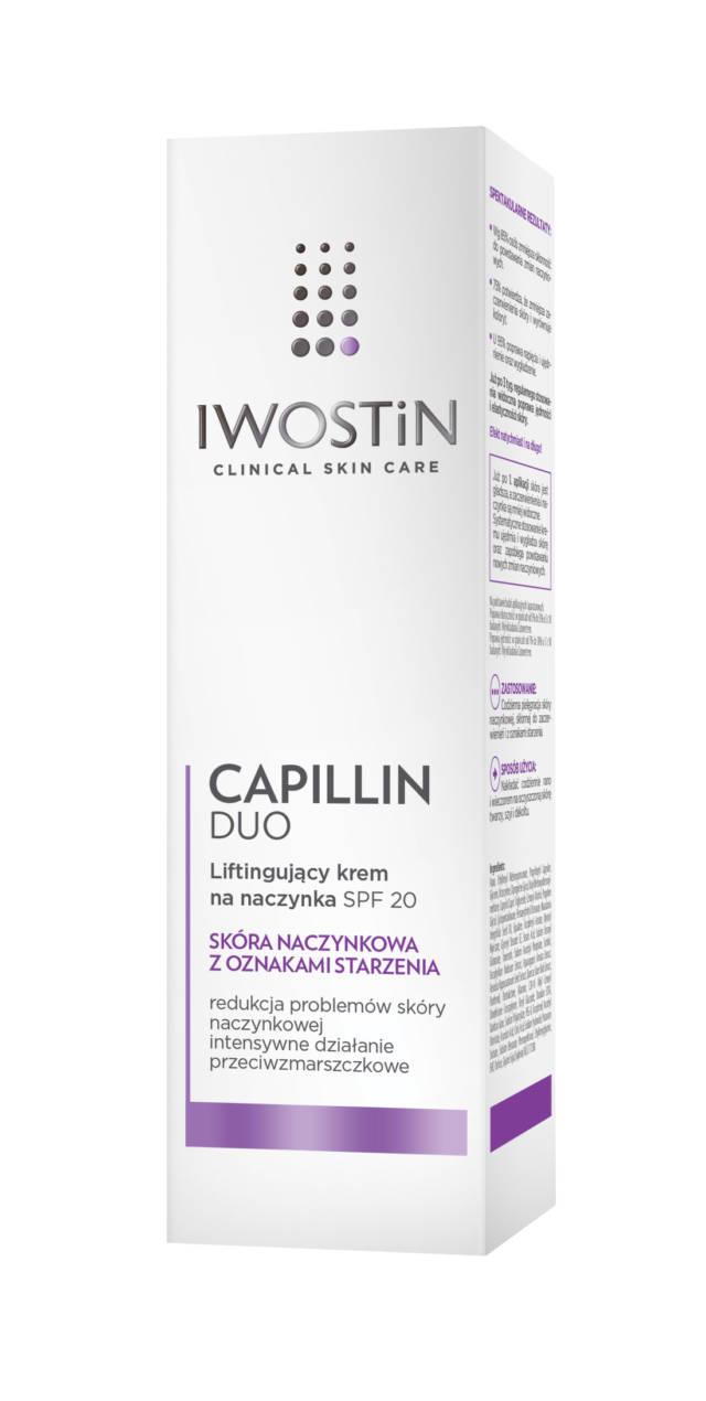IWOSTIN CAPILLIN DUO Liftingujący krem na naczynka SPF20 40ml