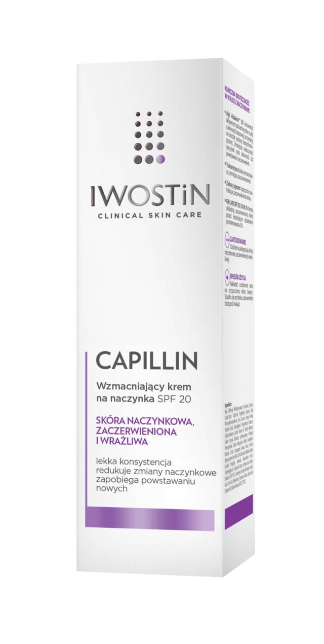 IWOSTIN CAPILLIN Wzmacniający krem na naczynka SPF20 40ml
