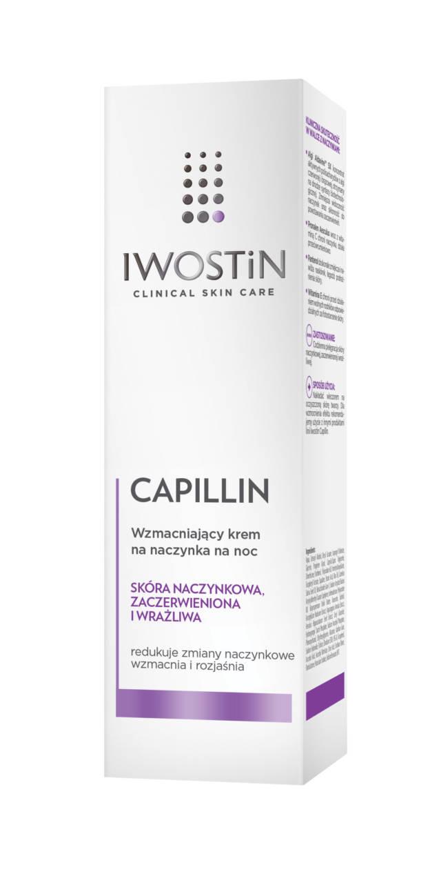 IWOSTIN CAPILLIN Wzmacniający krem na naczynka na noc 40ml