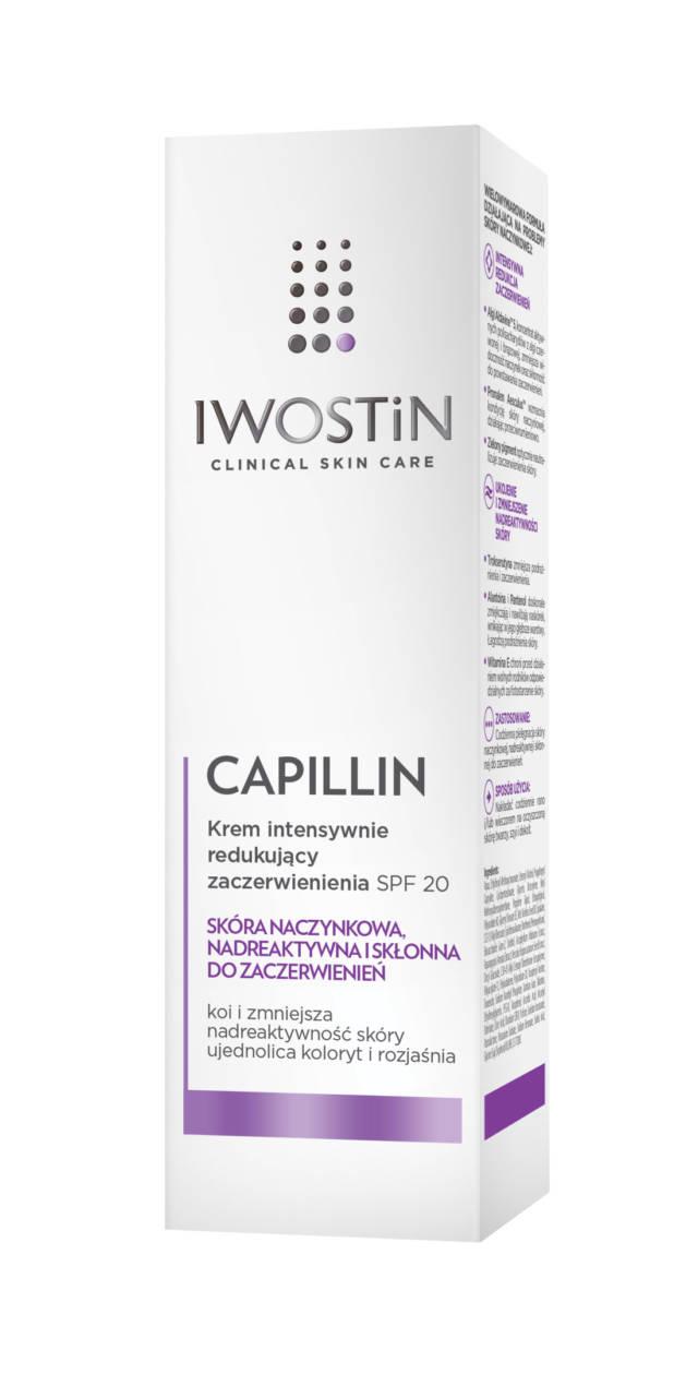IWOSTIN CAPILLIN Krem intensywnie redukujący zaczerwienienia SPF20 40ml