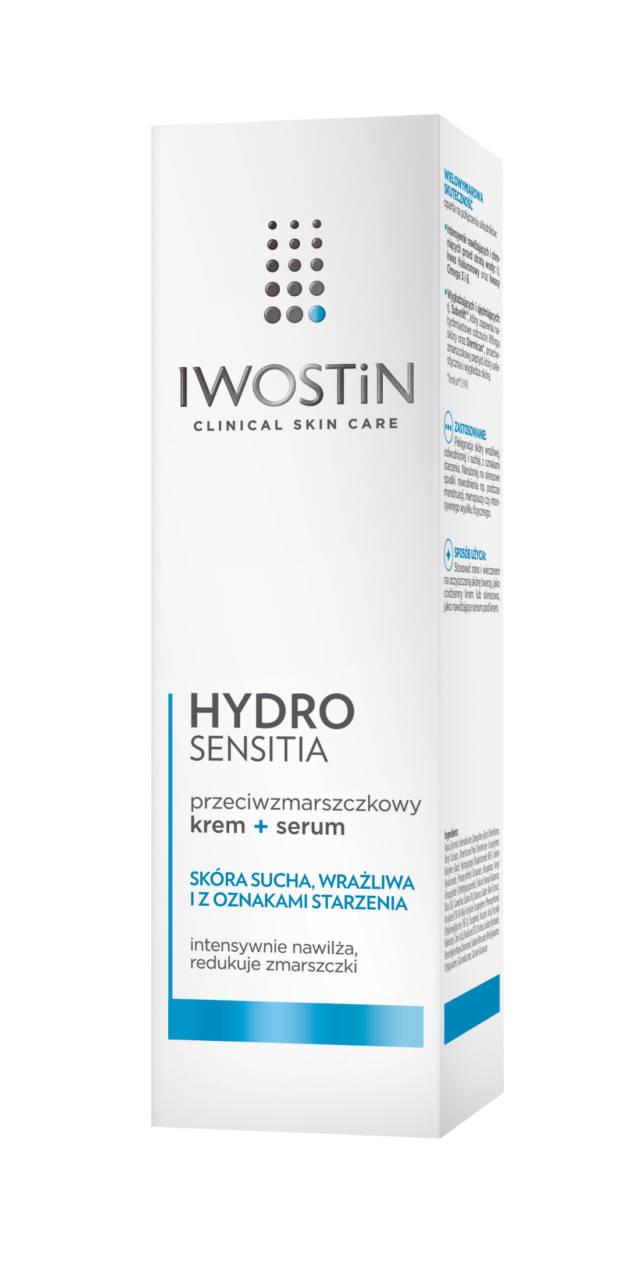 IWOSTIN HYDRO SENSITIA Przeciwzmarszczkowy krem+ serum 40ml