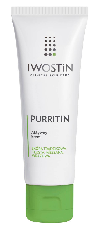 IWOSTIN PURRITIN Aktywny krem na dzień do skóry tłustej i trądzikowej 40ml