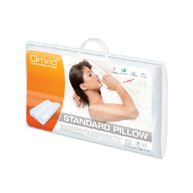 QMED STANDARD PILLOW Poduszka profilowana do snu+ opaska na oczy