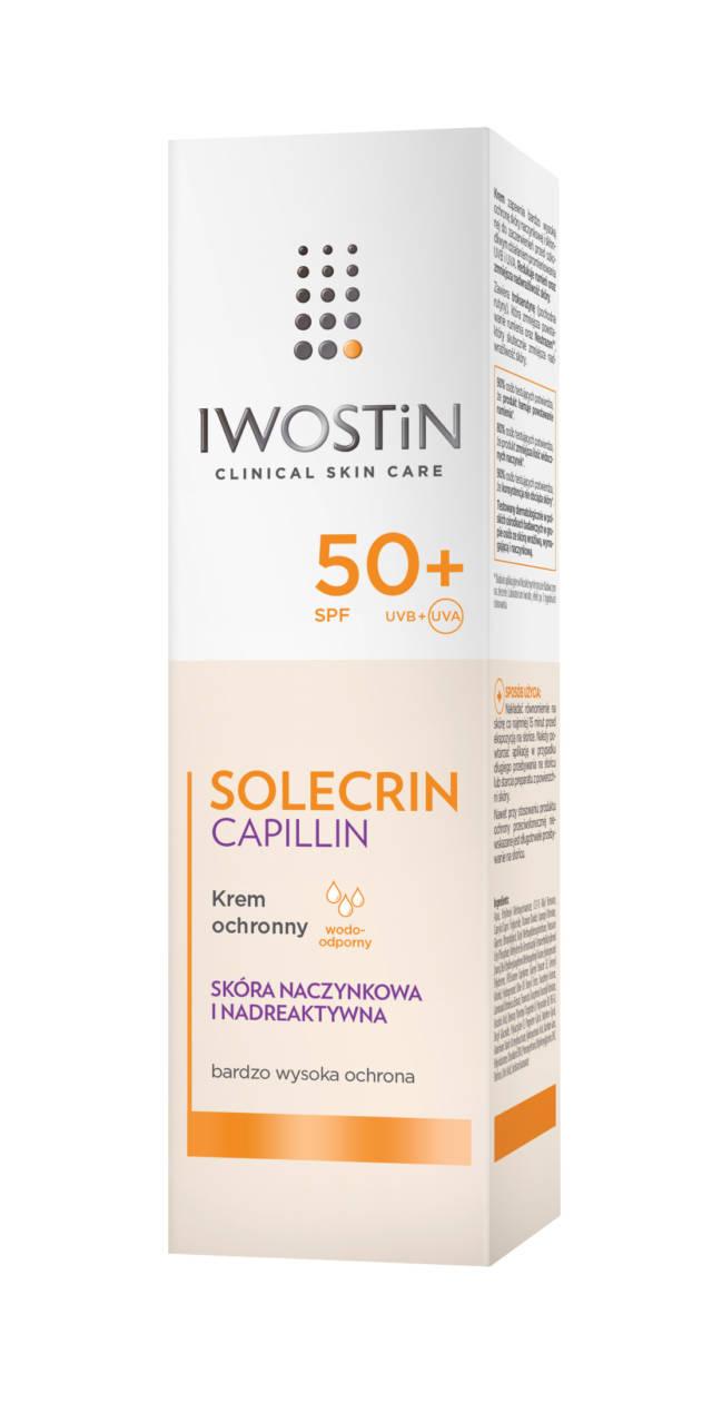 IWOSTIN SOLECRIN CAPILILN Krem ochronny z filtrem przeciwsłonecznym SPF50+ 50ml