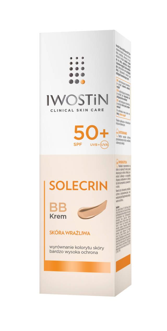 IWOSTIN SOLECRIN Krem BB z filtrem przeciwsłonecznym SPF50+ 30ml