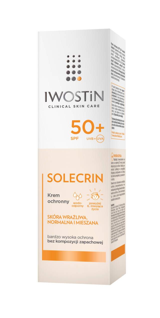 IWOSTIN SOLECRIN Krem ochronny z filtrem przeciwsłonecznym SPF50+ 50 ml