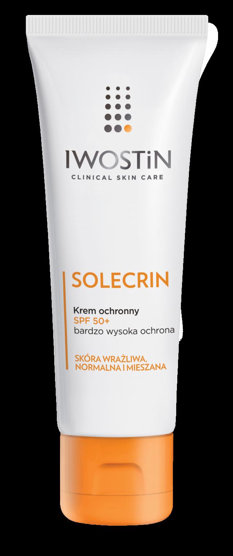 IWOSTIN SOLECRIN Krem ochronny z filtrem przeciwsłonecznym SPF50+ 50 ml +25ml GRATIS