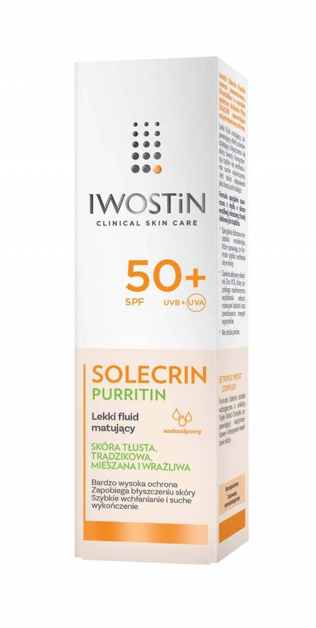 IWOSTIN SOLECRIN PURRITIN Lekki fluid matujący SPF50+ 40ml