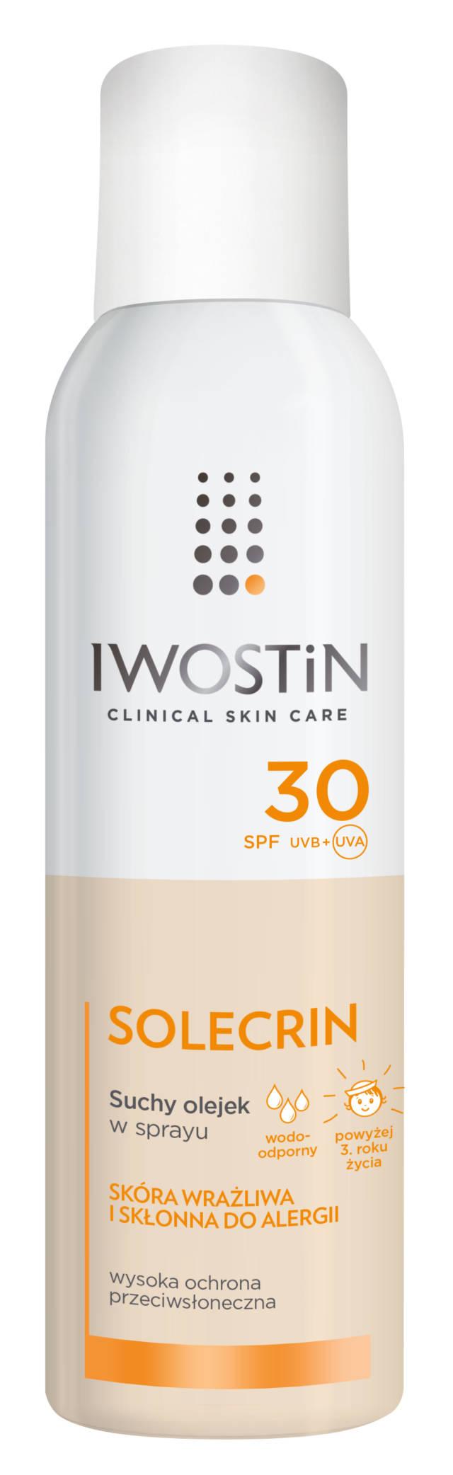 IWOSTIN SOLECRIN Suchy olejek w sprayu SPF30 150ml