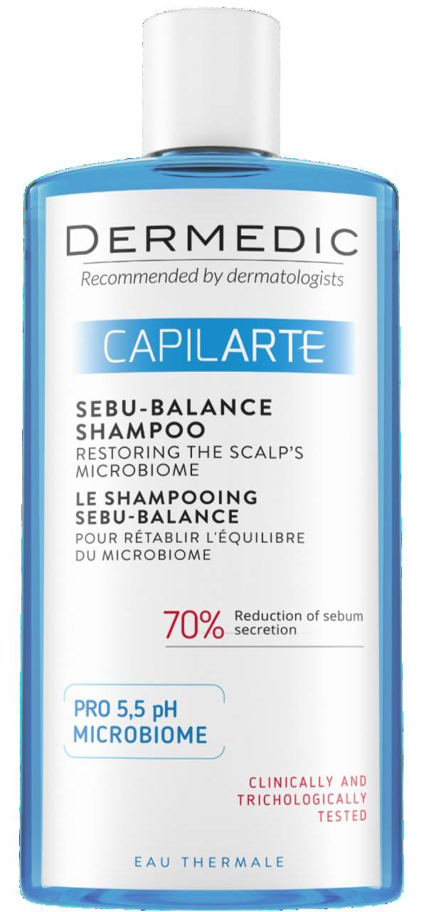 DERMEDIC CAPILARTE Szampon SEBU BALANCE przywracający równowagę mikrobiomu skóry 400ml