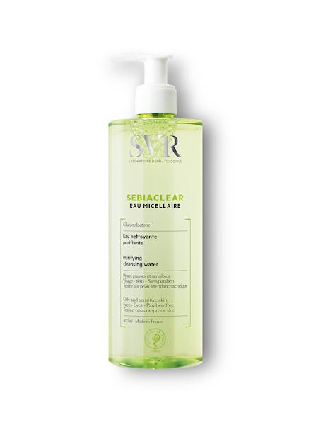 SVR SEBIACLEAR EAU MIC Woda micelarna do oczyszczania skóry tłustej i trądzikowej 400ml