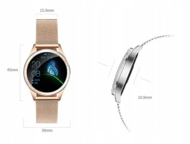 OROMED Wielofunkcyjny zegarek dla kobiet SMARTWATCH CRYSTAL GOLD