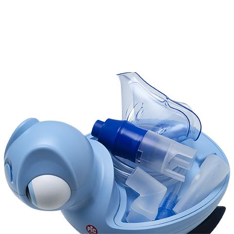 PIC Inhalator tłokowy mikrokompresorowy dziecięcy Żółwik Miss Bibi