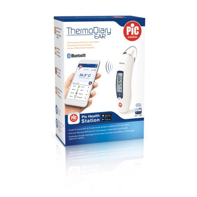 PIC Termometr douszny na podczerwień z funkcją Bluetooth Thermo Diary Ear