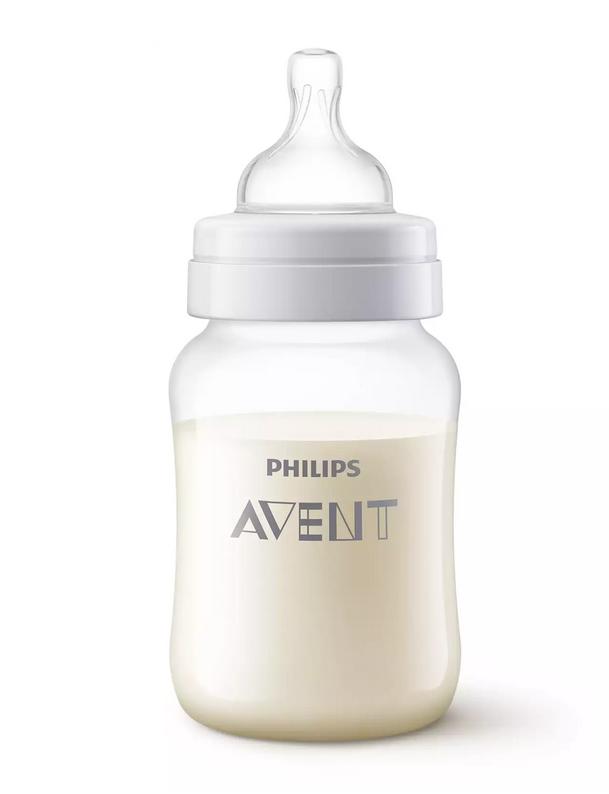 "AVENT Butelka antykolkowa dla niemowląt ""Pingwinek"" 1m+ 260ml  SCF821/13"