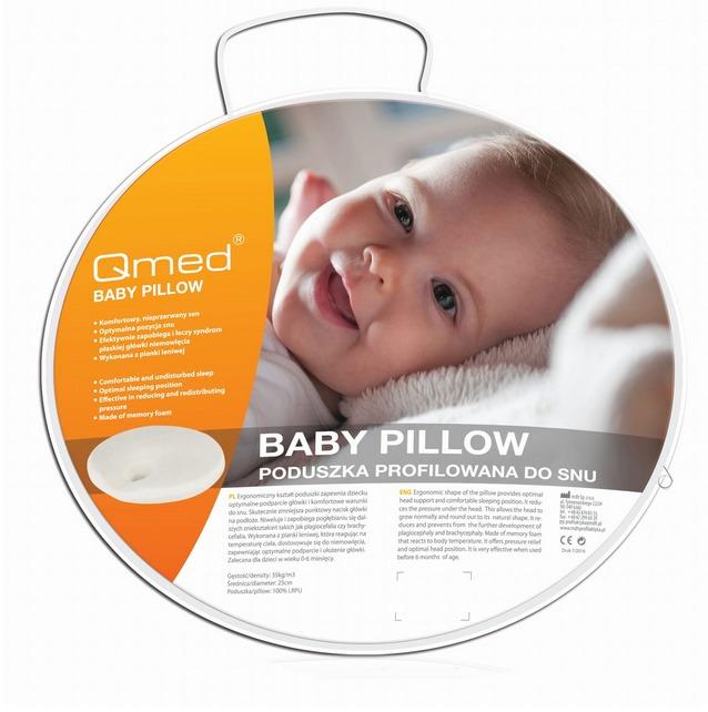 QMED BABY PILLOW Certyfikowana poduszka dla noworodków