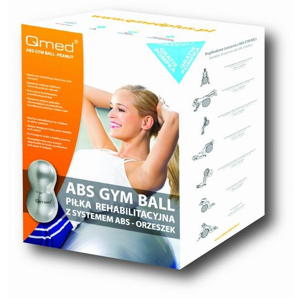 QMED ABS Gym Ball – Peanut Piłka rehabilitacyjna