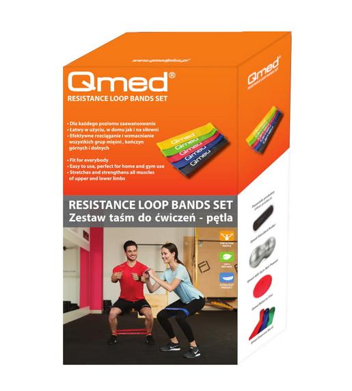 QMED RESISTANCE LOOP BAND SET Zestaw taśm do ćwiczeń