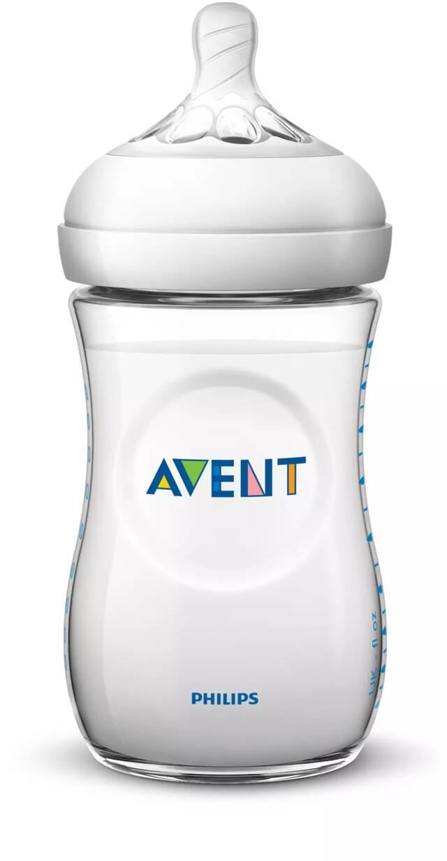 AVENT Zestaw butelek dla noworodków z serii Natural (2×125 ml, 2x260ml, szczotka do czyszczenia, smoczek) SDC301/01