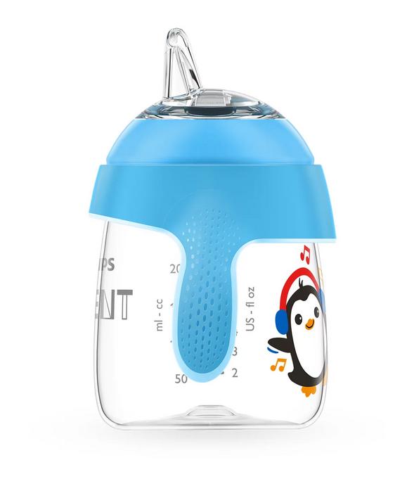 AVENT Kubek pingwinek z twardym ustnikiem 12+ 200ml SCF747/02