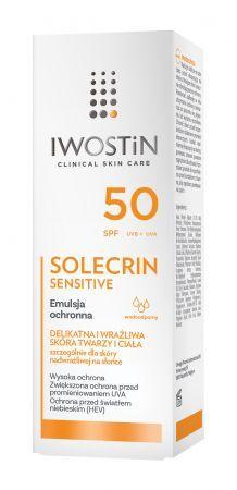 IWOSTIN SOLECRIN Emulsja ochronna dla skóry delikatnej i wrażliwej SPF50 100ml