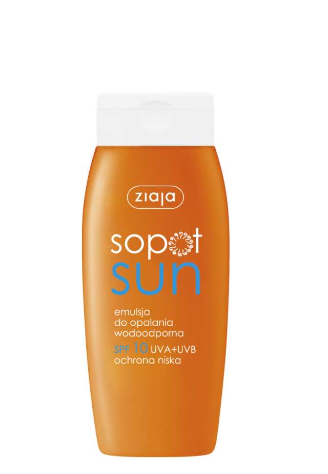 ZIAJA SOPOT SUN Emulsja do opalania wodoodporna SPF10 150ml