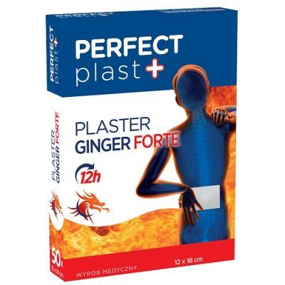 MERKURY Plaster rozgrzewający Ginger Perfect Plast 12cmx18cm