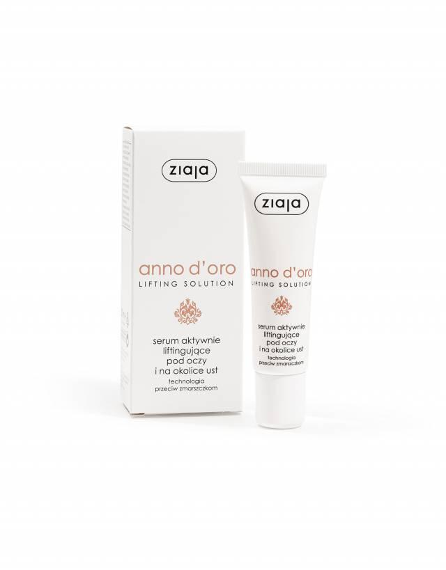 ZIAJA ANNO D'ORO 40+ Serum aktywnie liftingujące pod oczy i na okolice ust 30ml