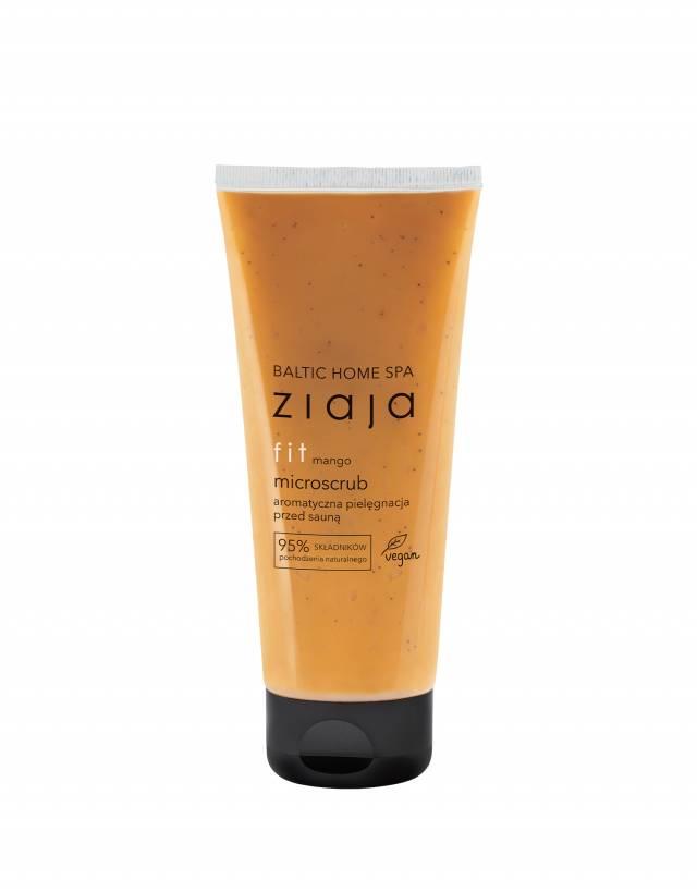 ZIAJA BALTIC HOME SPA FIT Microscrub mango aromatyczna pielęgnacja przed sauną 190ml