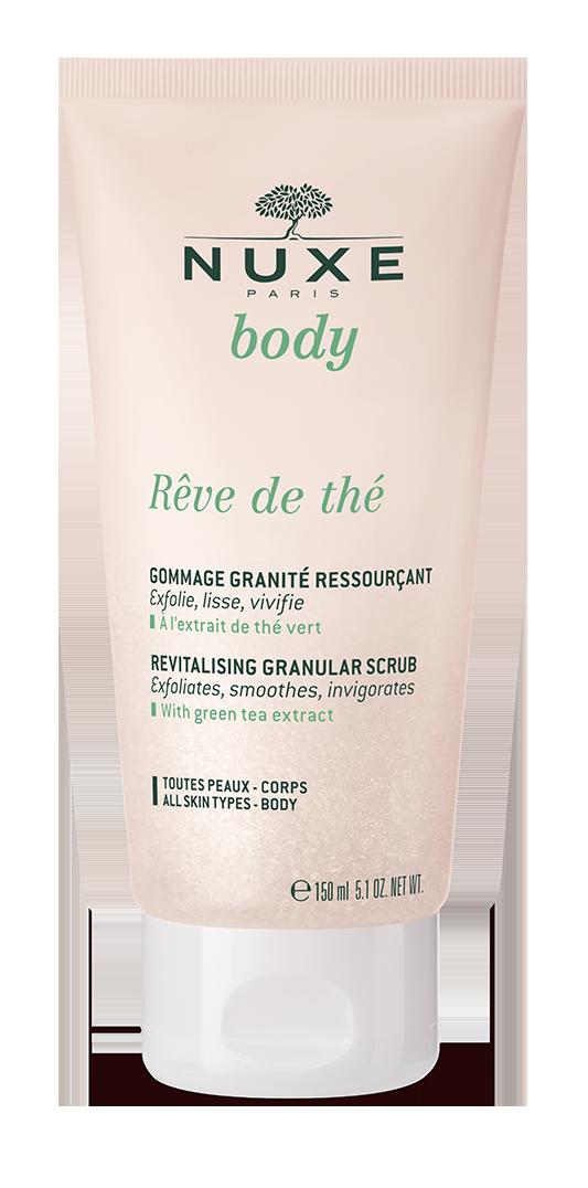 NUXE BODY Rêve de Thé Rewitalizujący peeling do ciała 150ml + Rewitalizujący żel pod prysznic 30 ml GRATIS