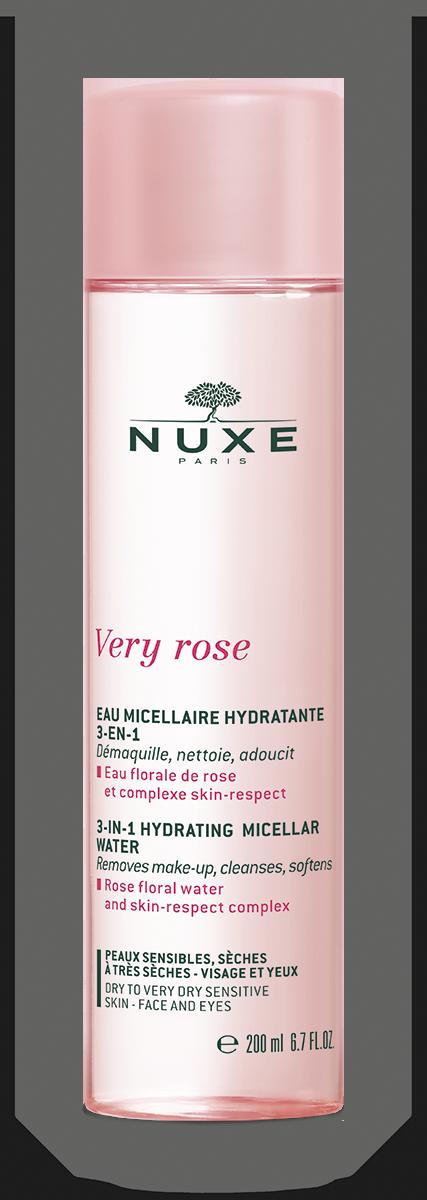 NUXE Very Rose Nawilżająca woda micelarna 3-w-1 200ml
