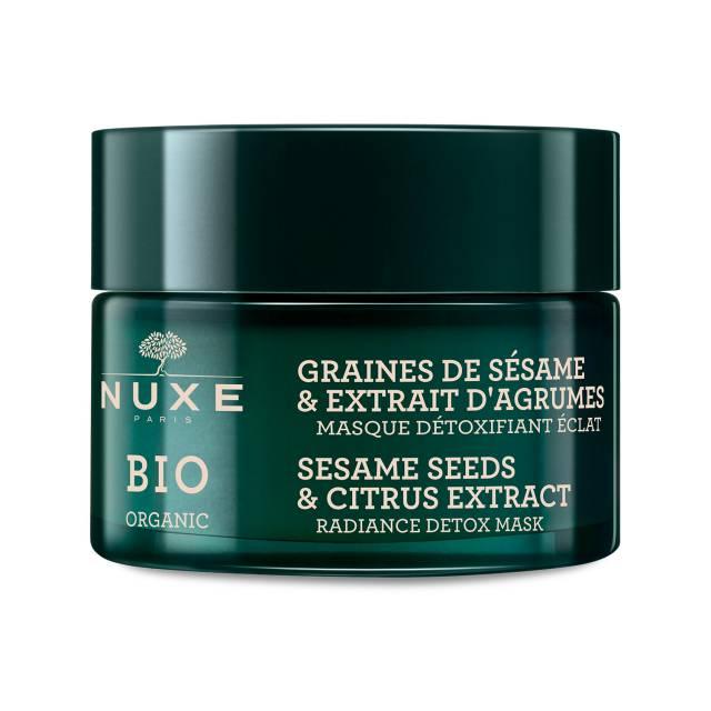 NUXE BIO Rozświetlająca maska detoksykująca z ekstraktem z cytrusów i ziaren sezamu 50ml