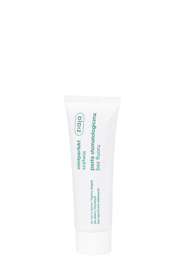 ZIAJA MINTPERFEKT ACTIV Pasta stomatologiczna bez fluoru z szałwią 75ml